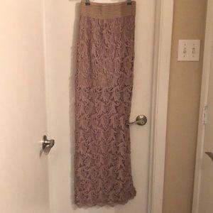 Dresses & Skirts - Maxi skirt tan laced